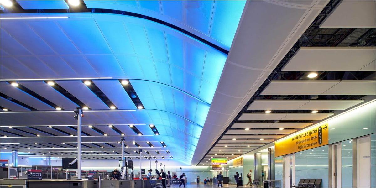 Architainment à Heathrow terminale