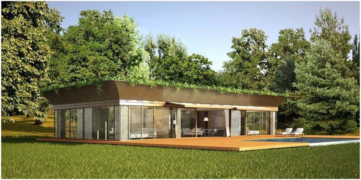 Design créatif de l'architecture écologique verte