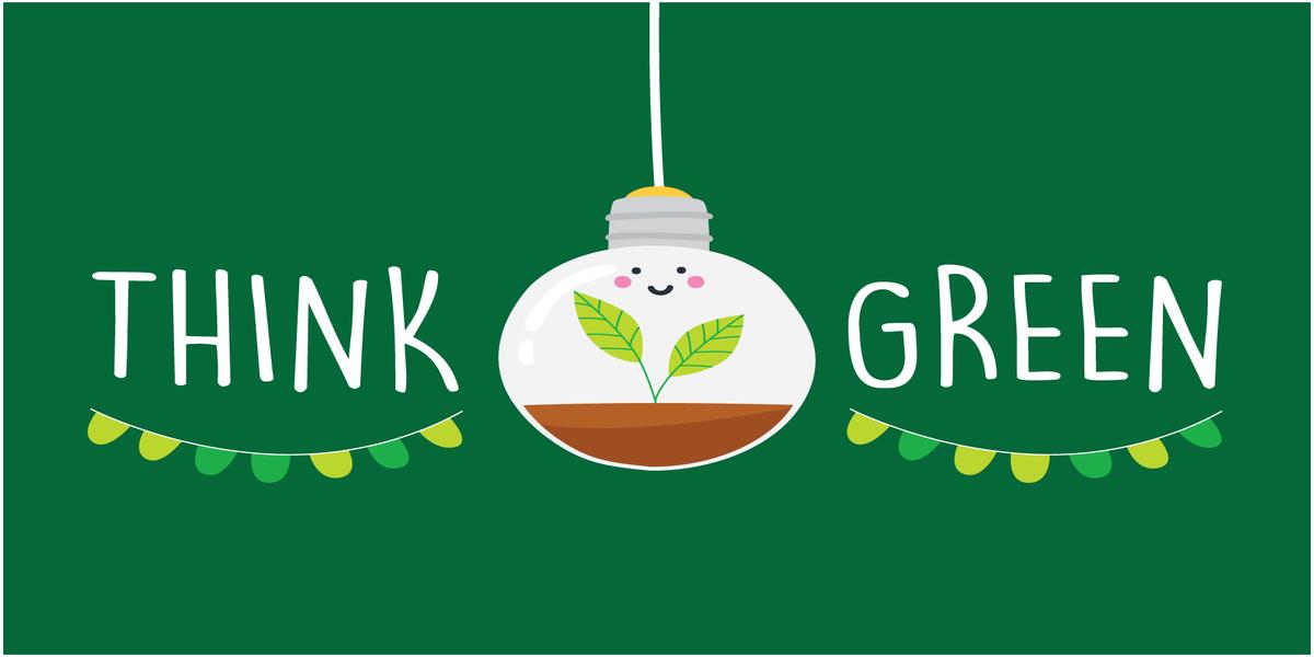 think green, penser vert