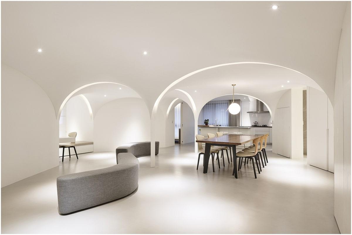Formes architecture d'intérieur