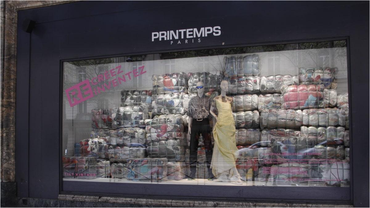 le recyclage dans le design retail
