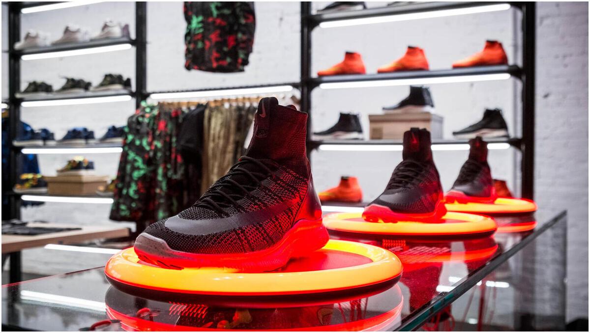 le numérique dans le design retail, exemple de nikelab