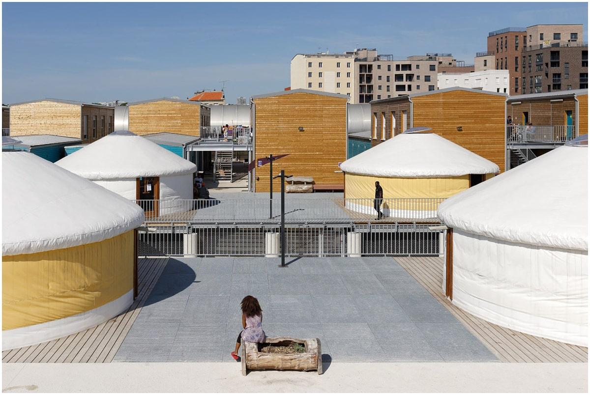 participants à la biennale exposition d'architecture à Venise