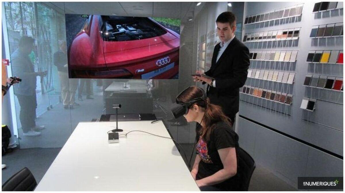 La salle d'exposition VR d'Audi